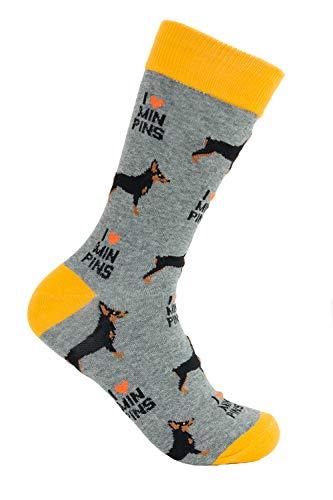 """Miniature Pinschers """"Min Pin"""" Socks - Comfy Adult Unisex Socks"""