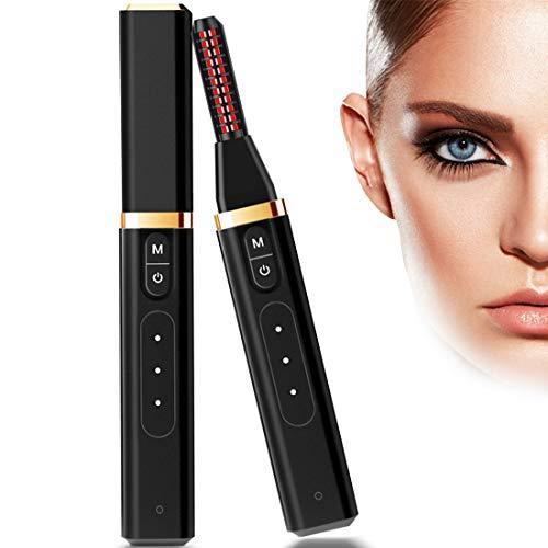Rizador de Pestañas Eléctrico, Recargable USB Portable Rizador de Pestañas Térmico Profesional con Calentamiento Rápido Temperatura Ajustable Mini Portatil Herramienta de Maquillaje