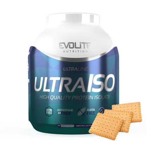 Evolite Nutrition Ultra Iso Whey 2270g - Whey Protein Isolate, High Protein Powder, Muscle Growth and Support, Create a Beautiful Body - Petit Beurre