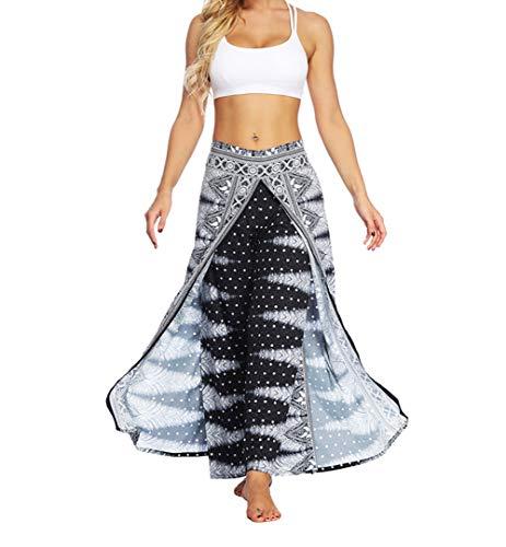 Mujeres Yoga Pantalones Pierna Ancha - Corriendo Sports Gym Secado Rápido Transpirable Suelto Casual Sudaderas(Estilo A S/M)
