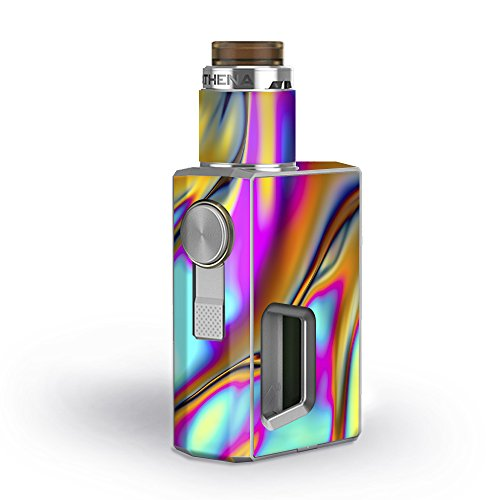 Skin Decal Vinyl Wrap for GeekVape Athena Squonk Kit Vape Kit skins stickers cover / Oil Slick Resin Iridium Glass Colors