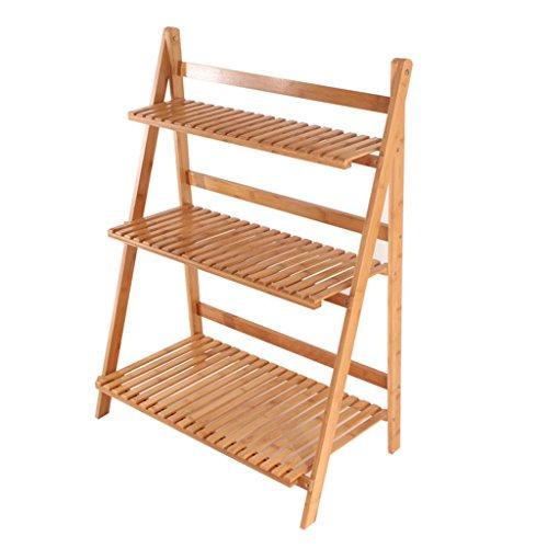 Support de fleur en bois pliable, étagères de plantes à plusieurs étages, étagères de rangement de style échelle