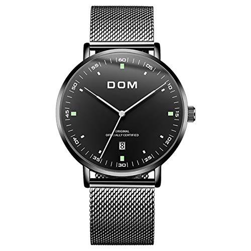 Herren Uhren Ultradünne Analog Quarz Herren Armbanduhr 30M Wasserdicht Herrenuhr Datum Minimalistische Männer Uhren mit Edelstahl Armband