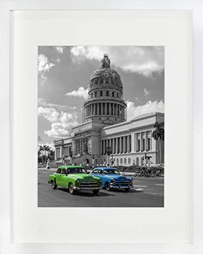 BD ART 28 x 35 cm Marcos de Foto con Paspartu para Fotos 20 x 25 cm, Blanco