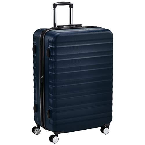 AmazonBasics - Trolley rigido di ottima qualità con rotelle pivotanti e lucchetto TSA integrato, 78 cm, blu navy