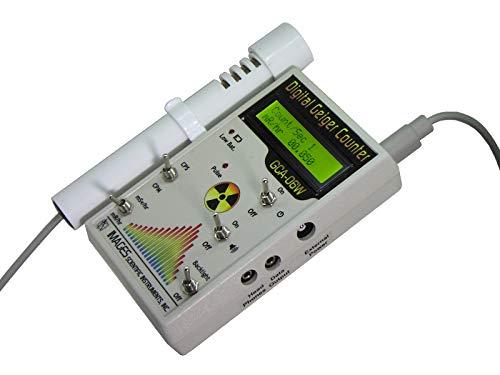 GCA-06W Professional Digital Geiger Counter Radiation Monitor with External Wand - NRC Certification Ready- 0.001 mR/hr Resolution - 1000 mR/hr Range