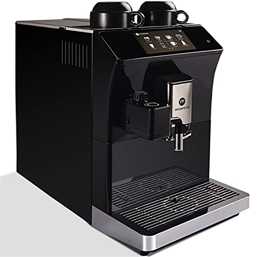 Mcilpoog Super-automatic Espresso Coffee Machine With Smart Touch Screen For Brewing 16 Coffee Drinks WS-203