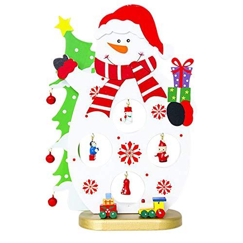 DaysAgo - Decoración de árboles de Navidad de madera, decoración de árbol de Navidad, decoración de escritorio...