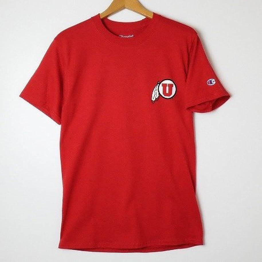 最大の黒発掘するChampion USA 【チャンピオン】?NCAA?S/S-Tshirt カレッジプリント半袖Tシャツユタ大学 レッド