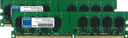 Memoria RAM DDR2 de 8 GB (2 x 4 GB, 800 MHz,...