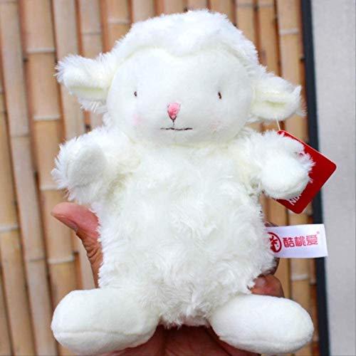 SongJX-Love Plüschtier-Tier-Tier-Serie Nette Rosen-Samt-Lamm-Puppe 18 cm, Netzrote und weiße Fleece-Spielzeug-Anhänger-Rucksack-Verzierungen Gzzxw