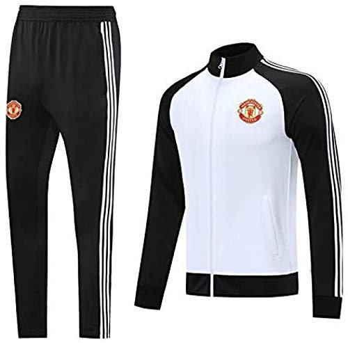 ZAHOYAN Langarm-Trainingsanzüge Uniformen Der Heimmannschaft Manchester United Fußball-Trainingsanzug Langarm-Anzug Aussehen Anzug Team Wettbewerb Trainingsanzug,A-XXL