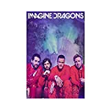 Imagine Dragons Rock Band Leinwand Poster Wandkunst Dekor