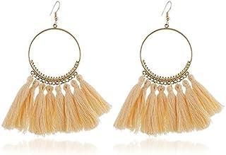 Earrings Tassel Earrings for Women Ethnic Big Drop Earrings Bohemia Fashion Jewelry Trendy Cotton Rope Fringe Long Dangle ...