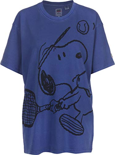 Levis x Peanuts Graphic Relaxed Oversize Tee Snoopy Blue M