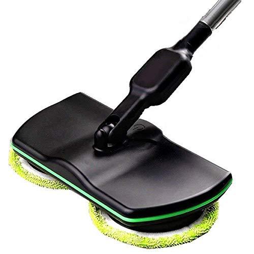 Schnurloses Kehrmaschine, Handwischer, Bodenreiniger, Wäscher, Polierer, 3-In-1 Schnurloser Elektrischer Mop,Schwarz