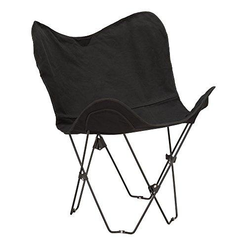 Fat Catalogus Metal Butterfly Chair, Black, ALT-OUG1002BK-SO