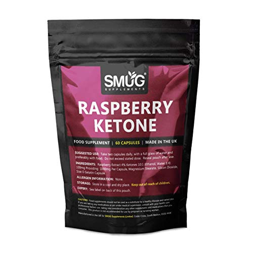 Raspberry Ketone Fruit Extract | 60 Capsules | 1000mg Raspberry Ketones | Super Strength Weight Loss Food Supplement for Men and Women | Made in the UK
