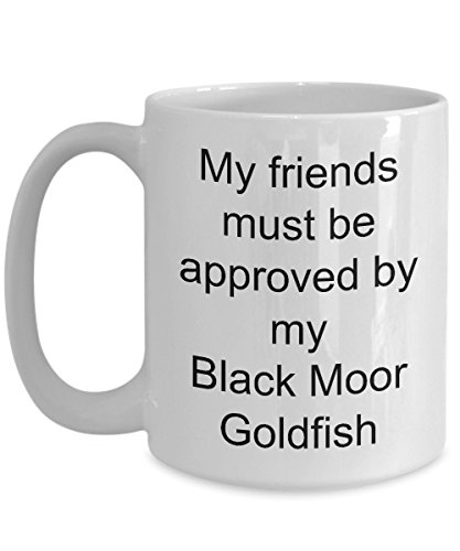 Black Moor Goldfish Coffee Mug - White 11oz 15oz Ceramic Tea Coffee Cup - Perfect For Travel And Gifts