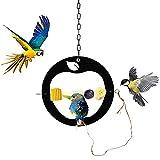 Salangae Comedero para pájaros con forma de manzana, ecológico, reciclado, para colgar