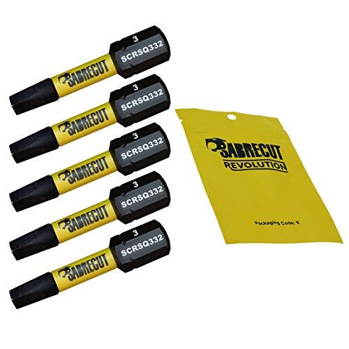 5 x SabreCut SCSQ332_5 32mm SQ3 Magnetischer Schlagschrauber-Bits, Quadratische Quadratischer Antrieb für Dewalt, Milwaukee, Bosch, Makita und mehr