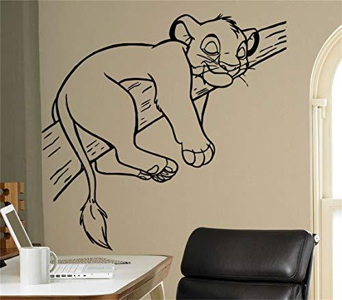 stickers muraux chambre sticker mural Roi Lion Sticker Roi Lion Simba Sticker Vinyle Mur Vinyle Autocollant Intérieur De La Maison Enfants Chambre Nursery vinyle décalque