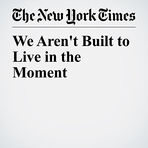 We Aren't Built to Live in the Moment copertina