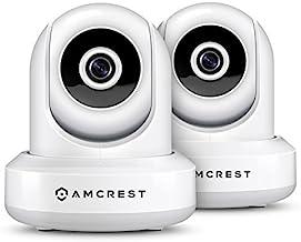 2-Pack Amcrest ProHD 1080P WiFi/Wireless IP Security Camera IP2M-841 Pan/Tilt, 2-Way Audio, Optional Cloud Recording, Full...