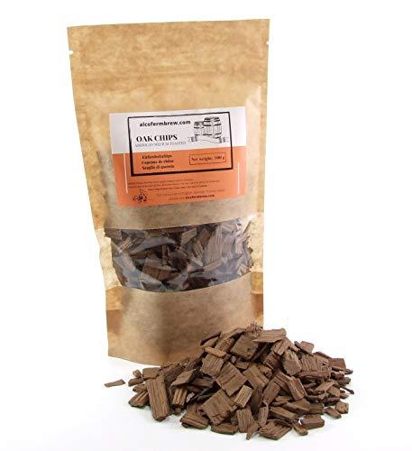 Eichenholzchips Amerikanisch (Medium Toasted) 100g - Amerikanische Eichenholzchips | Eichenholzspäne | Räucherholz | Eichenholz Chips | Holzspäne | Holzfässer