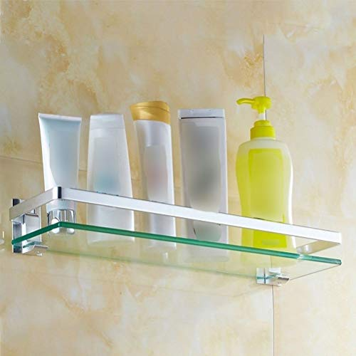 Planchet Bad Single Layer Muur douche plank Shower Caddy Wall Mount opslag Rack Screw Fixing 0409 (Size : 70cm)