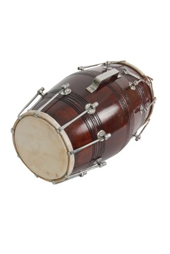 Satnam Handmade Dholak Drum (Dark Wood)