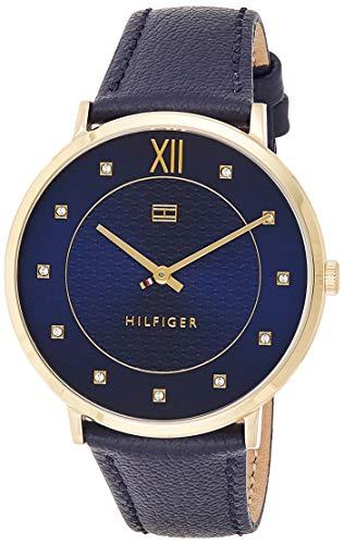 Tommy Hilfiger Herren Datum klassisch Quarz Uhr mit Leder Armband 1781807