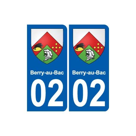 02 Berry-au-Bac - Adhesivo decorativo para placa de pared, diseño de escudo de ciudad