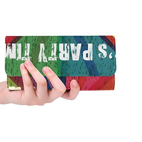 Einzigartige helle Bunte DJ-Konsolen-Frauen-dreifachgefaltete Mappen-Lange Geldbeutel-Kreditkarte-Halter-Fall-Handtasche