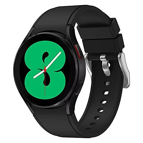 BYNYXI Correa de silicona para Samsung Galaxy Watch 4 44 mm y Samsung Galaxy Watch 4 Classic 46 mm, ajustable con cierre rápido, correa de repuesto para hombres y mujeres, correa de reloj de 20 mm