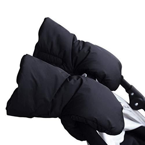 Mysida Pushchair handschoenen waterdicht anti-freeze dikker warm winter baby vervoer Hand Cover wandelwagen accessoires (zwart) (kleur : zwart, maat: M)