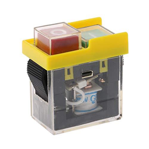 Máquina de pulsador electromagnético de interruptor magnético impermeable a CA 250 V 6 A a vista de la broca de corte en apagado.