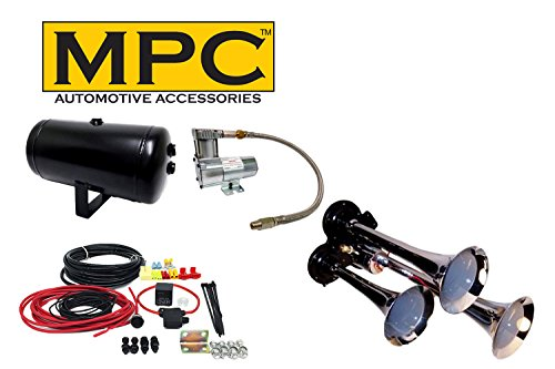 Air Tools Air Bags and Onboard Air Systems MPC 12-Volt DC 200 PSI Heavy-Duty Air Compressor 100/% Duty Cycle for Horns