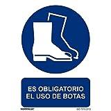 Normaluz RD26605 - Señal Adhesiva Es Obligatorio El Uso De Botas adhesivo de Vinilo 10x15 cm
