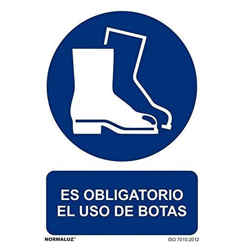 Normaluz RD20005 - Señal Es Obligatorio El Uso De Botas PVC GLASSPACK 0,7 mm 21x30 cm