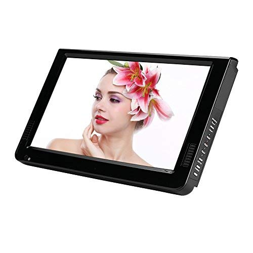 Digital TV, Portable TV with Freeview Built-In Rechargeable Battery, 16:9 Portable TFT-LED HD Digital Analog Color TV Television Player for Motorhome, Caravan, Car, Kitchen and so on.(10inch)