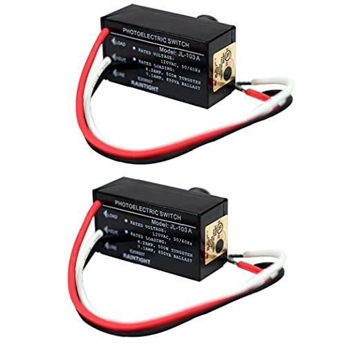 Photocell Light Switch Control JL-103A Mini Auto con el sensor Dusk Dawn para la iluminación de la noche al aire libre 2 unids, sensor