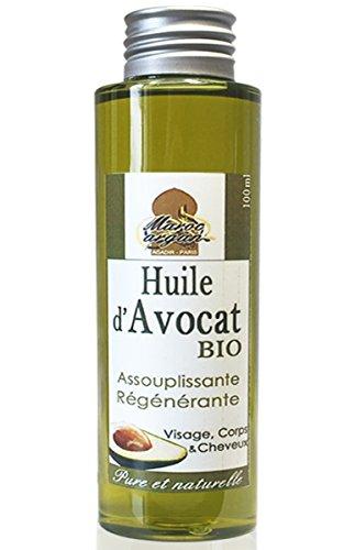 Huile d'Avocat BIO et naturelle - Peau et...