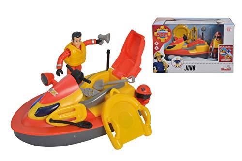 Simba - Sam le Pompier - Océan Jet Ski Juno Flottant - Accessoires de Sauvetage + 1 Figurine Incluse - 109251048002N