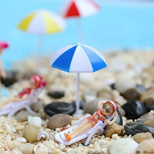 Sombrilla para el sol, 2 piezas, miniatura para el hogar, jardín, decoración de mesa, decoración de manualidades, tamaño: S