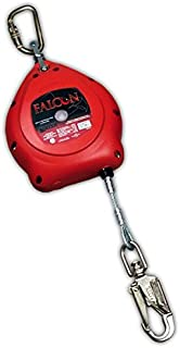 Miller Falcon MP20G Red Steel Self-Retracting Lifeline - 20 ft Length - 612230-15292 [PRICE is per EACH]