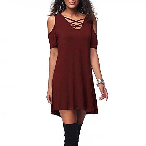 Gominfly Ropa De Mujer De Comercio Exterior, Ropa Explosiva De Comercio Exterior Europea Y Estadounidense Ebay Amazon Vende Nuevo Vestido De Hombro Suelta