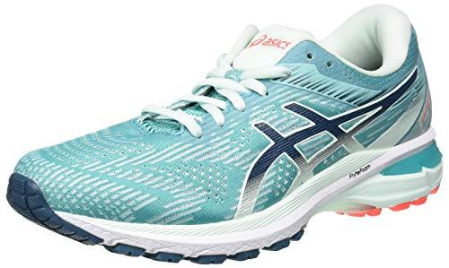 ASICS Womens GT-2000 8 Running Shoe, Techno Cyan/Magnetic Blue, 38 EU