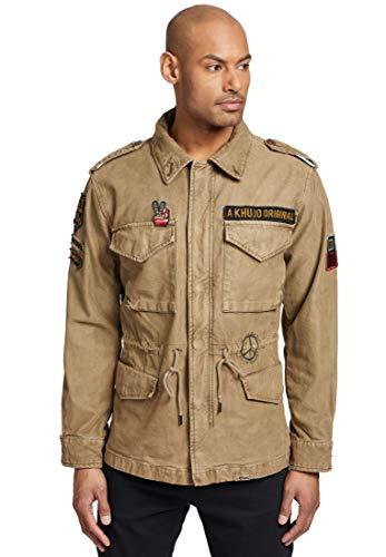 khujo Herren Jacke Clarence 2 Sommerjacke mit leicht verwaschener Optik im Military-Look