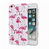 Flamingos iPhone 6 Phone Case for Girls, Glossy TPU Soft Rubber Silicone Cover Protective Bumper Case for iPhone 6s / iPhone 6